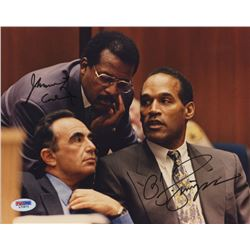 O. J. Simpson  Johnnie Cochran Signed 8x10 Photo (PSA COA)