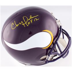 "Chris Doleman Signed Vikings Full-Size Helmet Inscribed ""HOF 12"" (JSA COA)"