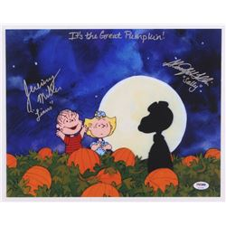 "Jeremy Miller  Stacy Tolkin Signed ""It's The Great Pumpkin, Charlie Brown"" 11x14 Photo Inscribed ""Li"