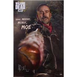 "Jeffrey Dean Morgan Signed ""The Walking Dead"" 24x36 Poster Inscribed ""Negan"" (Radtke COA)"