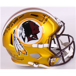 Mark Rypien, Joe Theismann  Doug Williams Signed Redskins Full-Size Blaze Speed Helmet With (3) Supe