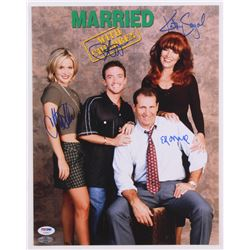 Married With Children 11x14 Photo Cast-Signed by (4) with Ed O'Neill, Katey Sagal, Christina Applega