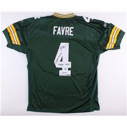 Brett Favre Signed LE Packers Jersey with (4) Career Stat Inscriptions (Brett Favre COA)
