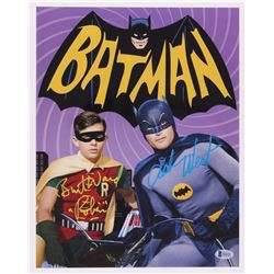 "Adam West  Burt Ward Signed ""Batman"" 11x14 Photo Inscribed ""Robin"" (Beckett COA)"