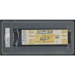 Magic Johnson Signed 1982 NBA Championship Playoffs Ticket (PSA Encapsulated  Autograph Grade 10)