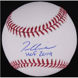 "Tom Glavine Signed OML Baseball Inscribed ""HOF 2014"" (Radtke)"