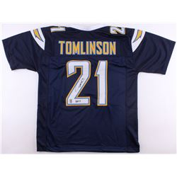 """LaDainian Tomlinson Signed Chargers Jersey Inscribed """"HOF 17"""" (Tomlinson Hologram)"""