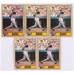 Lot of (5) 1987 Topps #320 Barry Bonds RC