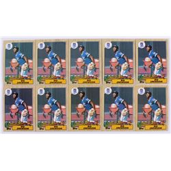 Lot of (10) 1987 Topps #170 Bo Jackson RC