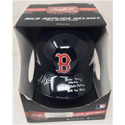 """Mookie Betts Signed Red Sox Limited Edition Full-Size Batting Helmet Inscribed """"Boston Strong Mookie"""