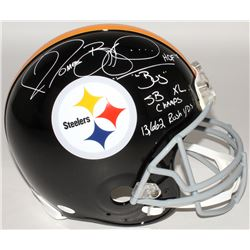 "Jerome Bettis Signed Steelers Full-Size Authentic On-Field Helmet Inscribed ""'Bus' HOF"", ""SB XL Cham"