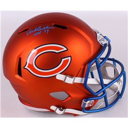"Dick Butkus Signed Bears Full-Size Blaze Speed Helmet Inscribed ""HOF 79"" (JSA COA)"