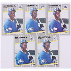 Lot of (5) 1989 Fleer #548 Ken Griffey Jr. RC