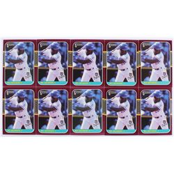 Lot of (10) 1987 Donruss Opening Day #205 Bo Jackson