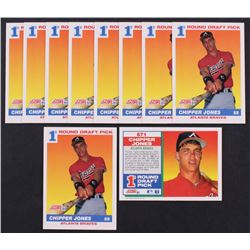 Lot of (10) 1991 Score #671 Chipper Jones RC