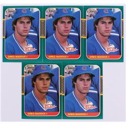 Lot of (5) 1987 Donruss Rookies #52 Greg Maddux