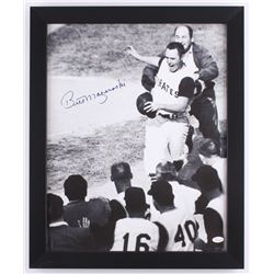 Bill Mazeroski Signed Pirates 18.5x22.5 Custom Framed Photo Display (JSA COA)