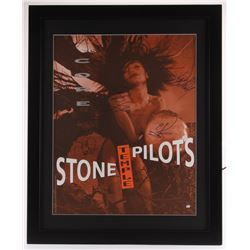 Stone Temple Pilots 25x31 Custom Framed Poster Display Signed by (4) with Dean DeLeo, Robert DeLeo,