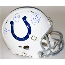 Peyton Manning  Marvin Harrison Signed Limited Edition Colts Full-Size Authentic On-Field Speed Helm