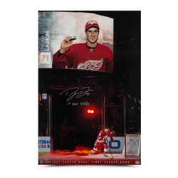 """Dylan Larkin Signed Red Wings 16x20 Limited Edition Debut Photo Inscribed """"1st Goal 10/9/15"""" (UDA CO"""