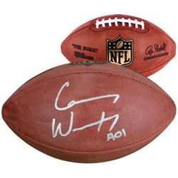 "Carson Wentz Signed ""The Duke"" Official NFL Game Ball Inscribed ""AO1"" (Fanatics)"