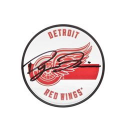 Dylan Larkin Signed Detroit Red Wings Acrylic Puck (UDA COA)