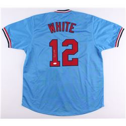 Bill White Signed Cardinals Jersey (JSA COA)