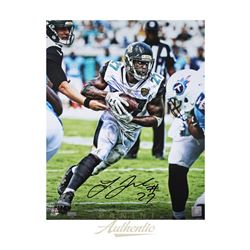"Leonard Fournette Signed Jaguars ""Vision"" 16x20 Limited Edition Photo (Panini COA)"