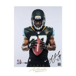 "Leonard Fournette Signed Jaguars ""Fearless"" 16x20 Limited Edition Photo (Panini COA)"