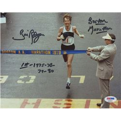 "Bill Rodgers Signed 8x10 Photo Inscribed ""Boston Marathon""  ""1st 1975-78-79-80"" (PSA COA)"
