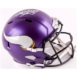 Adrian Peterson Signed Vikings Full-Size Speed Helmet (Fanatics Hologram)