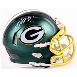 Davante Adams Signed Packers Blaze Mini Helmet (JSA COA)