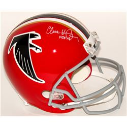 "Claude Humphrey Signed Falcons Full-Size Throwback Helmet Inscribed ""HOF 14"" (Radtke COA)"