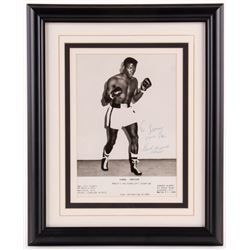 "Emile Griffith Signed 13.25x16.25 Custom Framed Photo Display Inscribed ""To Lanny Your Pal""  ""Champ"""