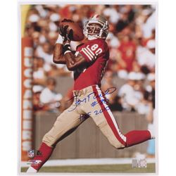 "Jerry Rice Signed 49ers 16x20 Photo Inscribed ""HOF 2010"" (Radtke COA)"