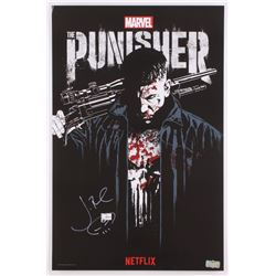 Jon Bernthal Signed Punisher 13x20 Poster with Hand-Drawn Punisher Skull (Ratdke COA)
