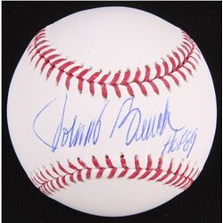 "Johnny Bench Signed OML Baseball Inscribed ""HOF 89"" (JSA Hologram)"