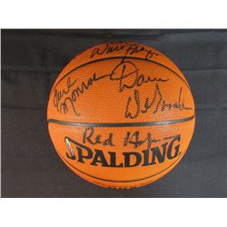 1973 Knicks Official Game NBA Basketball Team-Singed by (6) with Willis Reed, Bill Bradley, Walt Fra