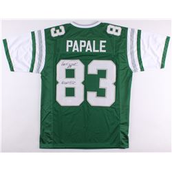 "Vince Papale Signed Eagles Jersey Inscribed ""Invincible"" (JSA COA)"