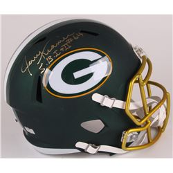 "Jerry Kramer Signed Packers Full-Size Blaze Speed Helmet Inscribed ""S.B. I + II"" (Radtke COA)"
