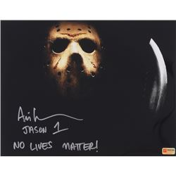 "Ari Lehman Signed Jason ""Friday the 13th"" 11x14 Photo Inscribed ""No Lives Matter!"" (PA COA)"