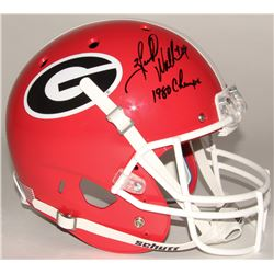 "Herschel Walker Signed Georgia Bulldogs Full Size Helmet Inscribed ""1980 Champs"" (JSA COA)"