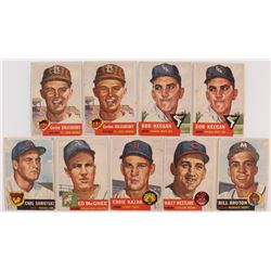 Lot of (9) 1953 Topps Baseball Cards