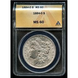 1884-O Morgan Silver Dollar VAM-4 (ANACS MS 60)