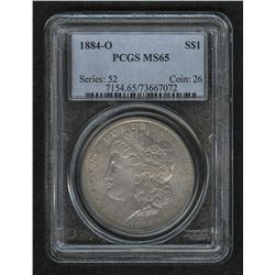 1884-O Morgan Silver Dollar (PCGS MS 65)