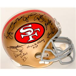 49ers Legends  Full-Size Helmet Team Signed by (14) With Joe Montana, Steve Young, Jerry Rice, Y.A.