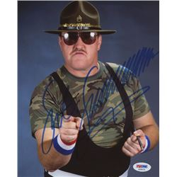 Sgt. Slaughter Signed 8x10 Photo (PSA COA)