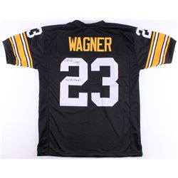 "Mike Wagner Signed Steelers Jersey Inscribed ""4x SB Champ's"" (TSE COA)"