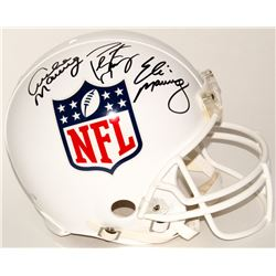 Archie Manning, Eli Manning  Peyton Manning Signed NFL Shield Full-Size Authentic On-Field Helmet (R