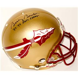 """Bobby Bowden Signed Florida State Seminoles Full-Size Authentic On-Field Helmet Inscribed """"'93-'99 N"""